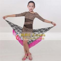 少儿拉丁舞台表演服装女式舞蹈服装_风格汇美演出服饰