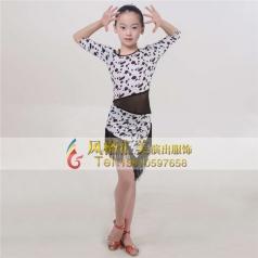 少儿女式拉丁舞蹈服装舞台服装定做_风格汇美演出服饰