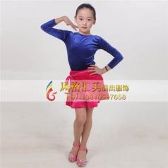 少儿拉丁舞蹈练功服装表演服装舞台服_风格汇美演出服饰