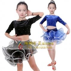 少儿拉丁练习服装舞台拉丁服定做_风格汇美演出服饰