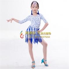 儿童舞蹈拉丁表演服装定做_风格汇美演出服饰