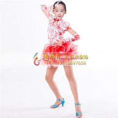 少儿舞台拉丁舞蹈服定做设计表演服_风格汇美演出服饰