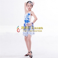 少儿拉丁舞蹈服装演出服装_风格汇美演出服饰
