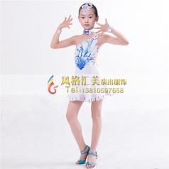 少儿拉丁舞台服装表演服装演出服定做_风格汇美演出服饰