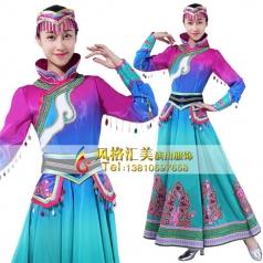 蒙古舞蹈服装定做舞台服蒙古舞装定制_风格汇美演出服饰
