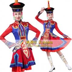 蒙古舞台服装定做表演舞蹈服装定做_风格汇美演出服饰