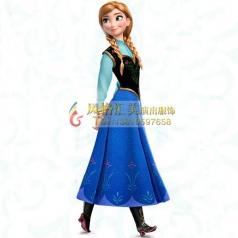 冰雪奇缘cosplay安娜公主裙服装定制_风格汇美演出服饰