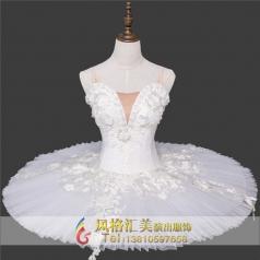 新款白色芭蕾舞台舞蹈服定做_风格汇美演出服饰