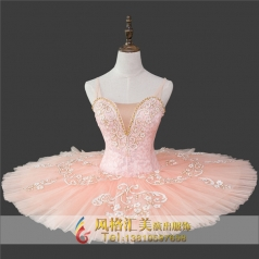 粉色系芭蕾蓬蓬裙定做_风格汇美演出服饰