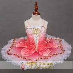 新款儿童芭蕾舞天鹅湖公主裙定制_风格汇美演出服饰