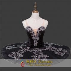 黑色芭蕾舞服蓬蓬裙定做厂家_风格汇美演出服饰
