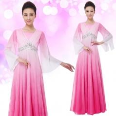 女士合唱服装长款合唱演出服装定制设计