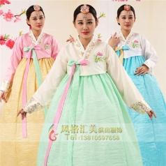 朝鲜族舞台表演服宽松大长裙韩服表演服定制