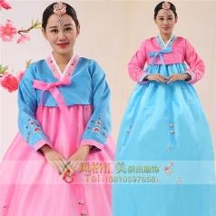 新款传统韩服演出服朝鲜族服定制设计
