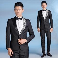 新款男士合唱服装西服套装合唱指挥服装燕尾服定制