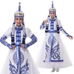 新款蒙古舞蹈服装民族舞蹈演出服定制