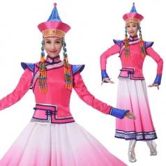 新款蒙古舞蹈演出服装少数民族服装舞台装定制