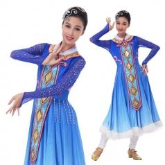 新款蒙古舞服装少数民族舞蹈表演服定制