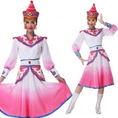 新款蒙古族舞蹈服装女舞台表演服装定制