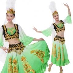 新款新疆舞维族舞台演出服装表演服定制