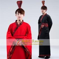 新款男子古装服装男汉服演出服装定制设计