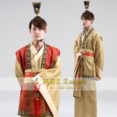 新款古代服装男古代演出服装汉服古装演出服定制设计