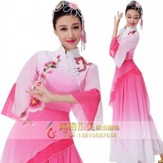 新款粉红色古典演出服装定制设计厂家