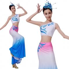 新款傣族舞蹈服装年会少数民族舞蹈服装定制厂家