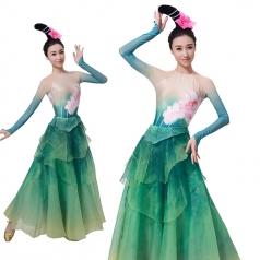 新款女成人东坡海南古典舞荷花仙女服装定制厂家