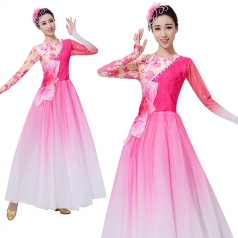 新款粉色古典舞蹈服装定制设计厂家