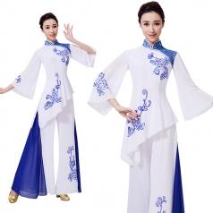 新款飘逸古典女款舞台演出表演服装定制