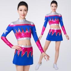 新款拉拉操健美操演出服装表演服竞技体操健美操比赛服啦啦操服装