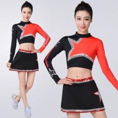 新款啦啦队服女学生健美操套装啦啦操比赛衣服啦啦操比赛衣服定制