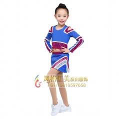 儿童啦啦操服装艺术体操团体服装定制儿童舞蹈服装设计