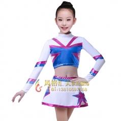 儿童啦啦操服装花色演出服装校园拉拉队演出服装设计