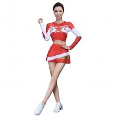 大学生啦啦操比赛演出服装竞技比赛艺术体操演出服装健美操塑身演出服装