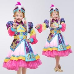 儿童少数民族舞蹈服装56个民族幼儿演出服定做