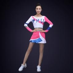 新款拉拉队体操服装比赛服团体运动会啦啦操演出服健美操服装定制