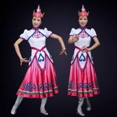 蒙古舞蹈演出服装定制新款民族舞蹈表演服装定制!