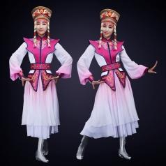 新款少数民族舞蹈演出服装蒙古舞台演出服装定制
