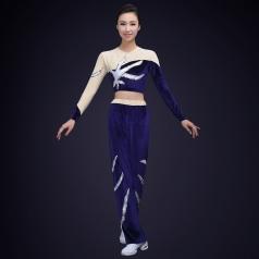 2018成人健美操演出服装新款丝绒健美操演出服装定制!