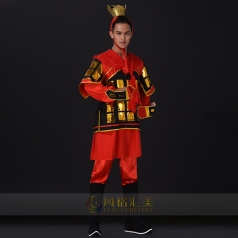 古代将士盔甲服装服饰演出服装大型古舞演出服装士兵盔甲演出服装定制款式!