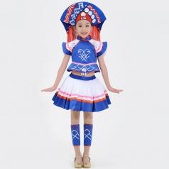 校园少数民族舞蹈演出服装儿童舞蹈比赛服装壮族舞蹈服定制生产厂家!