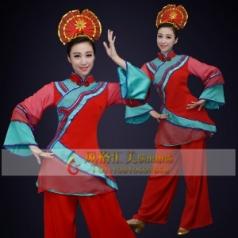 经典剧目《徽娘》舞蹈演出服装定制艺考中国红舞蹈服装款式设计定制!
