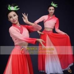 经典剧目《孔雀东南飞》舞蹈服装女款成人艺考粉色舞台演出服定制款式中国古风服装定制!